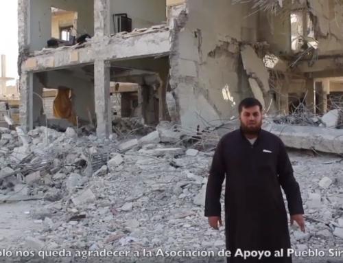 Ayuda tras los bombardeos de noviembre