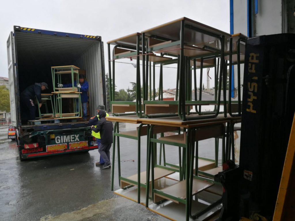 carga contenedores hacia Siria