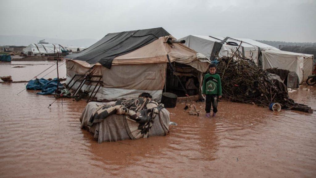 Las inundaciones en Siria afectan a miles de refugiados