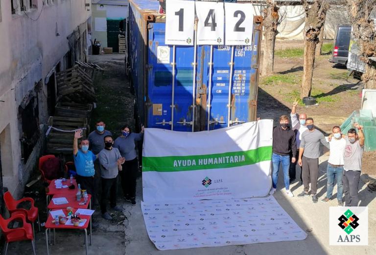 El contenedor 142 ya ca rumbo a Siria